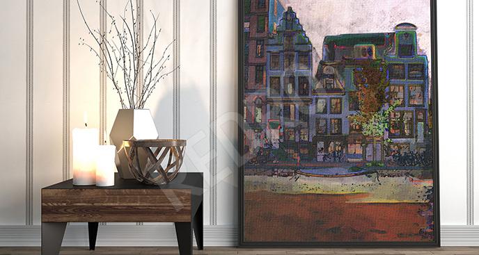 Obraz kolorowa kamienica