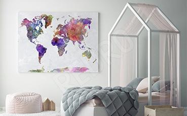 Obraz kolorowe kontynenty