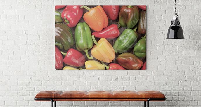 Obraz kolorowe papryki