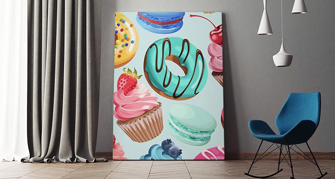 Obraz kolorowe słodycze