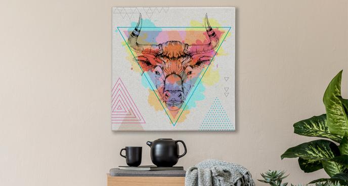 Obraz kolorowe zwierzę