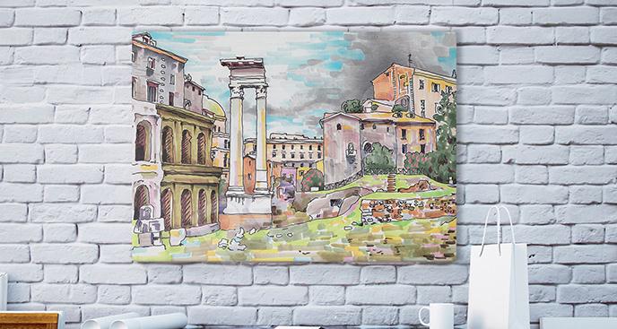 Obraz kolorowy Rzym