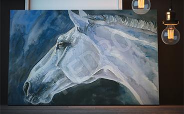 Obraz koń malowany akwarelą