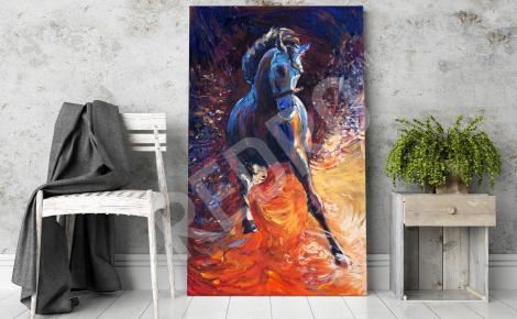 Obraz koń w galopie