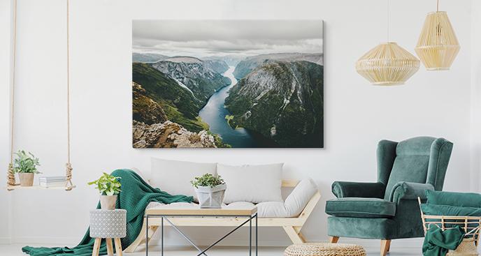 Obraz kontynenty i fiord