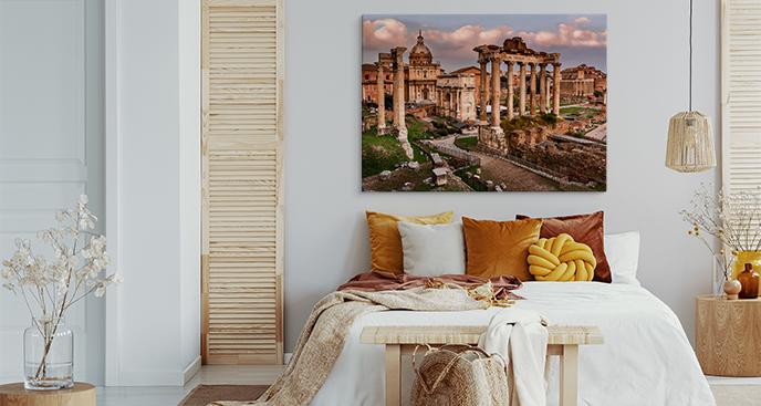Obraz kontynenty i Rzym