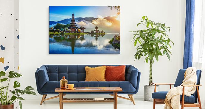 Obraz kontynenty i wyspa Bali