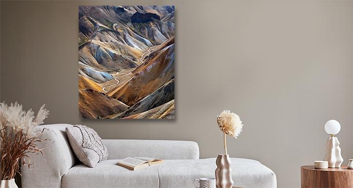 Obraz krajobraz zimowych gór