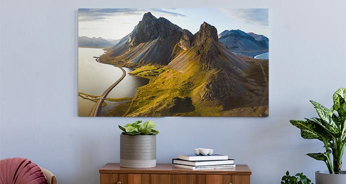 Obraz tryptyk z krajobrazem