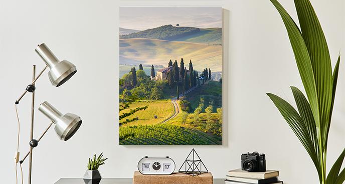 Obraz z krajobrazem górskim