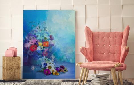 Obraz kwiaty malarstwo