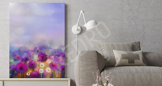 713879c1e8f049 Obrazy kwiaty ręcznie malowane - obrazy, fototapety, naklejki ...
