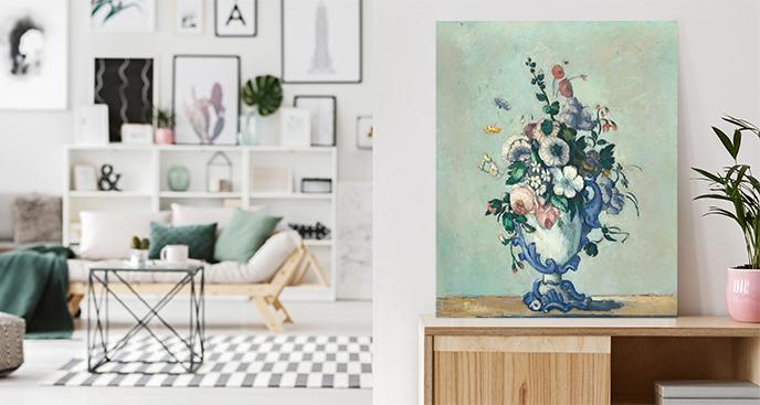 Obraz Kwiaty w rokokowym wazonie