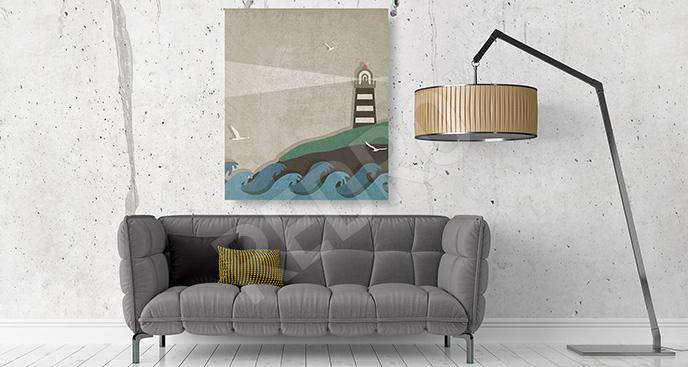 Obraz latarnia morska dla dziecka