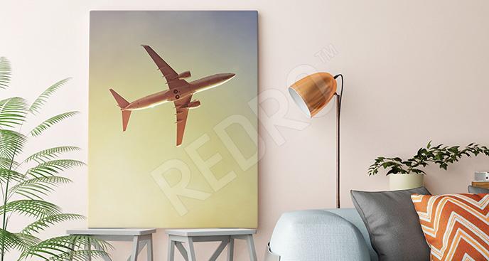 Obraz lecący samolot