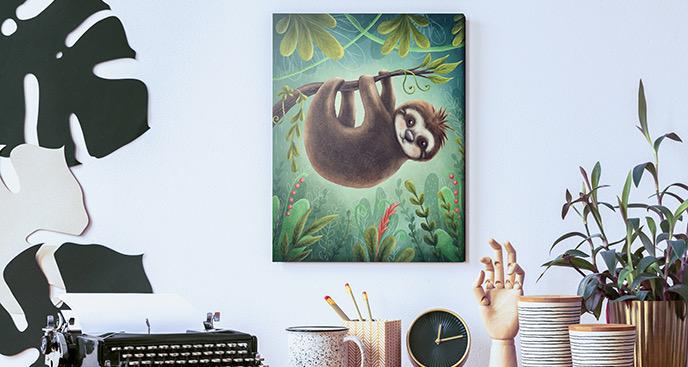 Obraz leniwy futrzak
