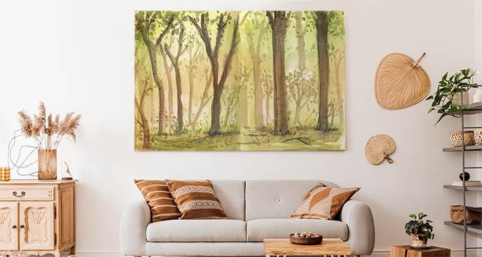 Obraz szkic drzewa