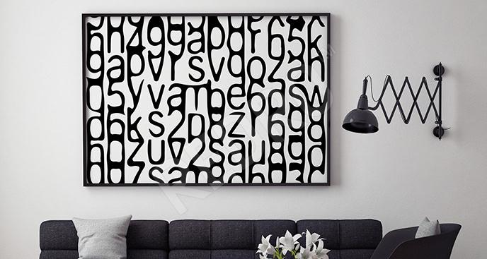 Obraz liczby i litery