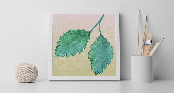 Obraz liście mięty