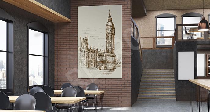 Obraz Londyn vintage
