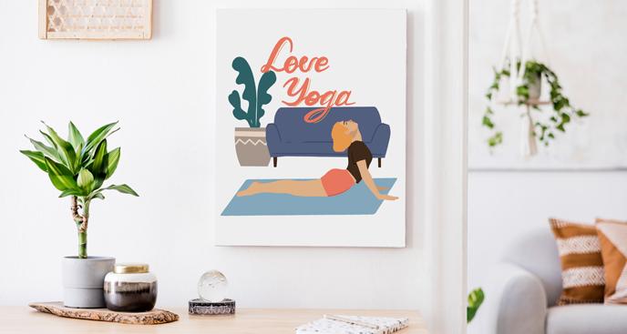 Obraz Love Yoga