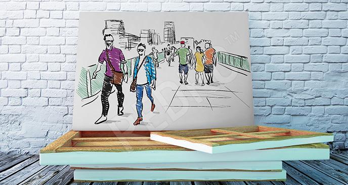 Obraz ludzie rysunek