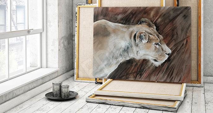 Obraz lwica malarstwo