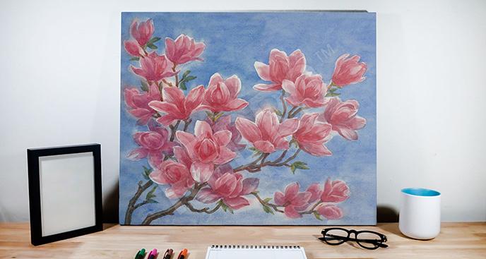 Obraz magnolia czerwona