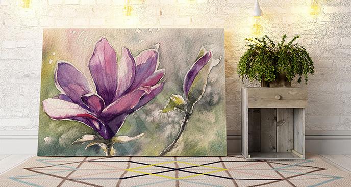 Obraz magnolia do przedpokoju