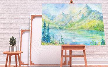 Obraz z górami malarstwo