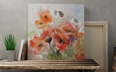 Obraz malarstwo kwiaty polne