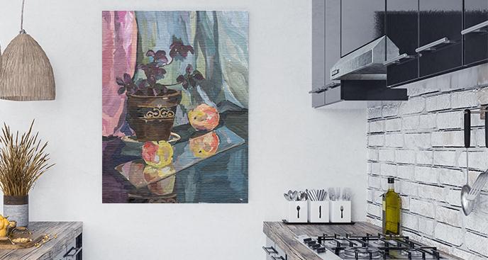 Obraz malowane jabłka