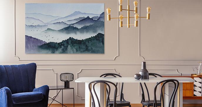 Obraz malowany akwarelą