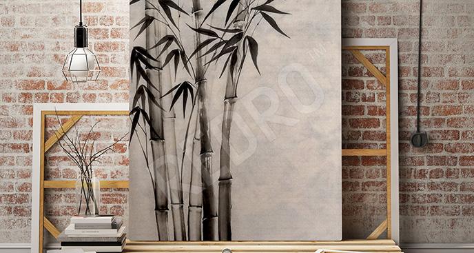 Obraz malowany bambus