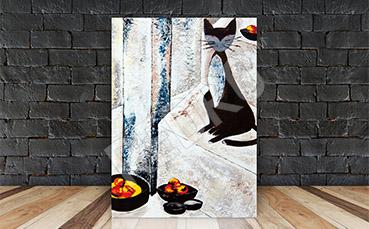 Obraz malowany kot