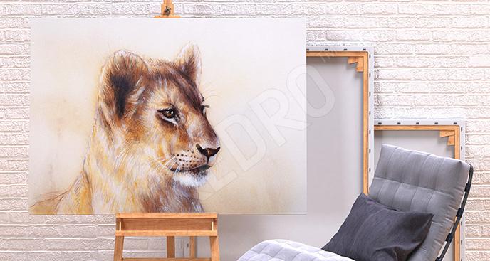 Obraz mały lew