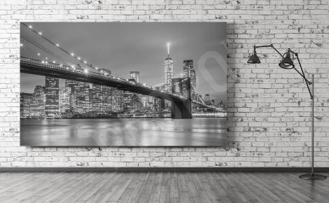 Obraz Manhattan panorama czarno-biała