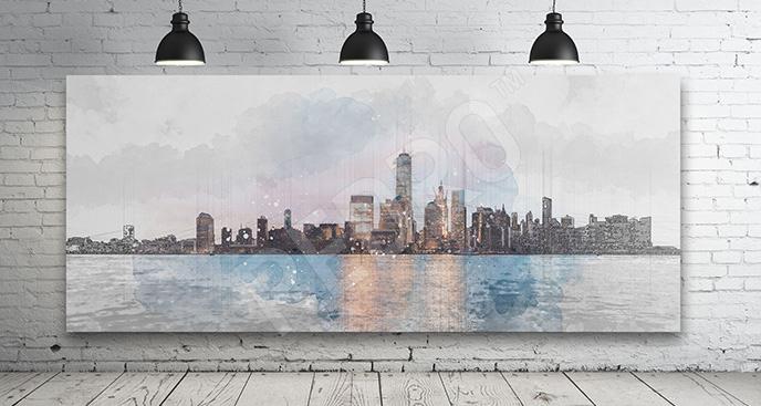 Obraz Manhattan widok na miasto
