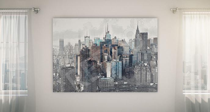 Obraz Manhattan - wieżowce