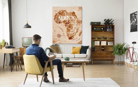 Obraz mapa - Afryka