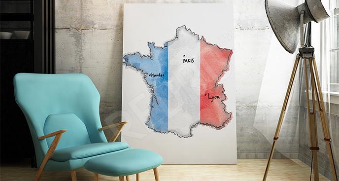 Obraz mapa Francji