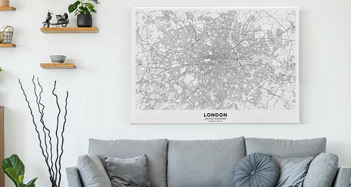 Obraz mapa – Londyn