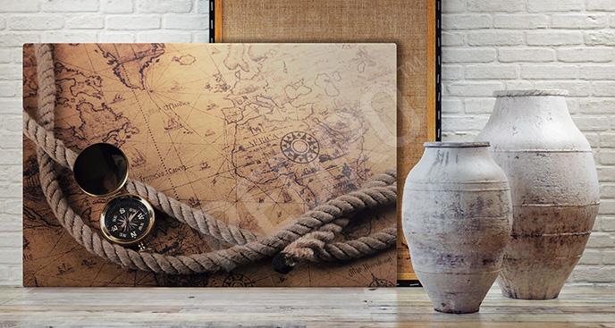 Obraz mapa odkryć geograficznych