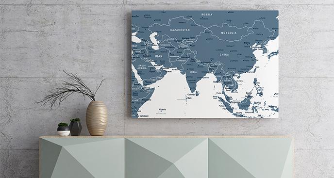 Obraz mapa polityczna Azji