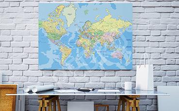 Obraz mapa polityczna do biura