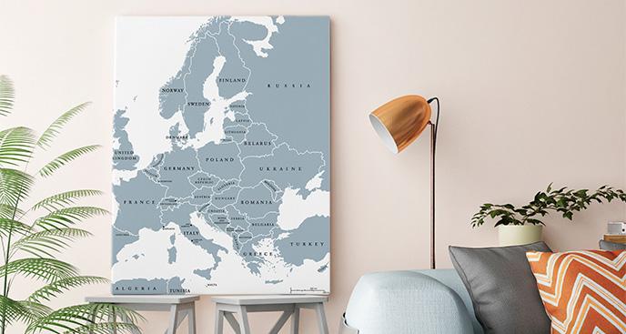 Obraz mapa polityczna Europy