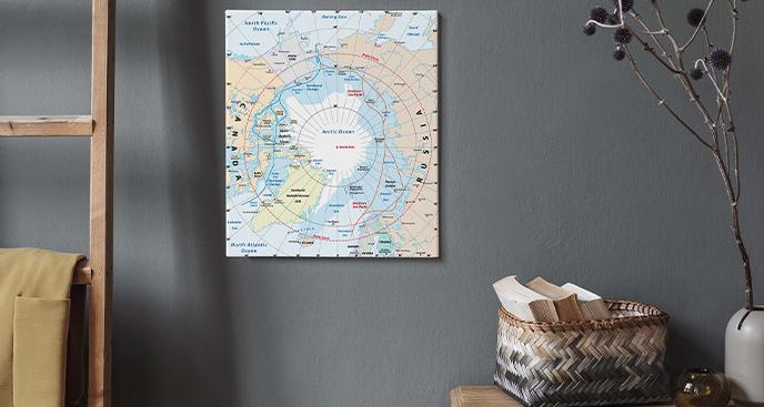 Obraz mapa regionu arktycznego