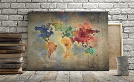 Obraz mapa świata vintage