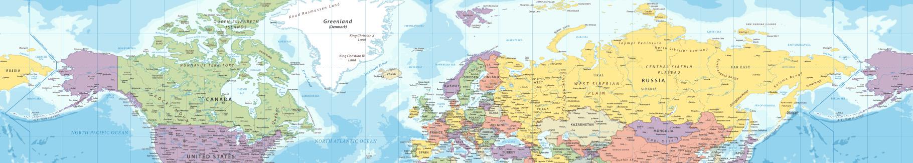 Obraz mapa w starym stylu