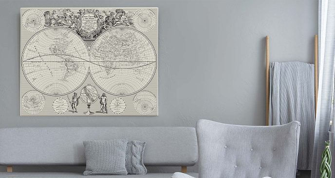 Obraz Nowy Jork na starej mapie